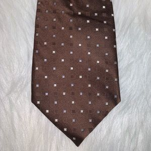 Apt 9 brown polka dot silk tie D